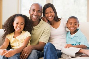 Família em primeiro plano