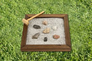 Jardim Zen para amenizar o estresse