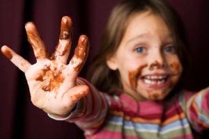 Chocolate na medida certa para as crianças