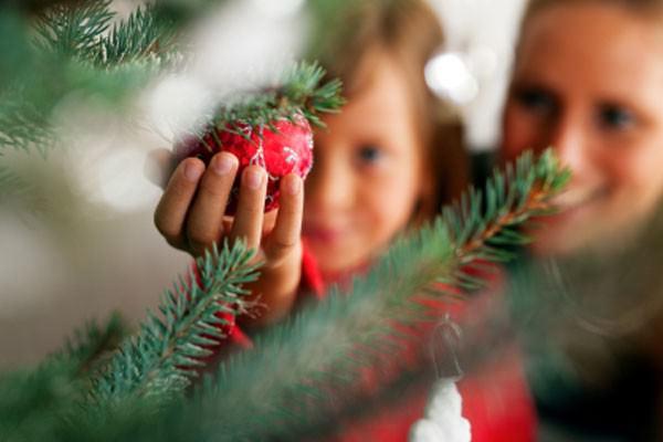 Casa decorada para o natal e o ano novo