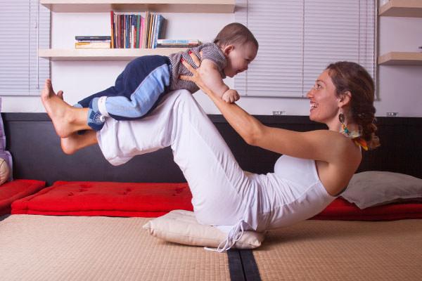 Praticando Yoga desde criança