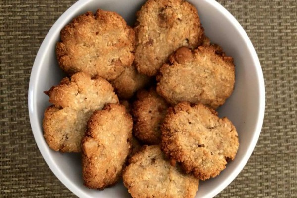 Receita de cookies de macadâmia