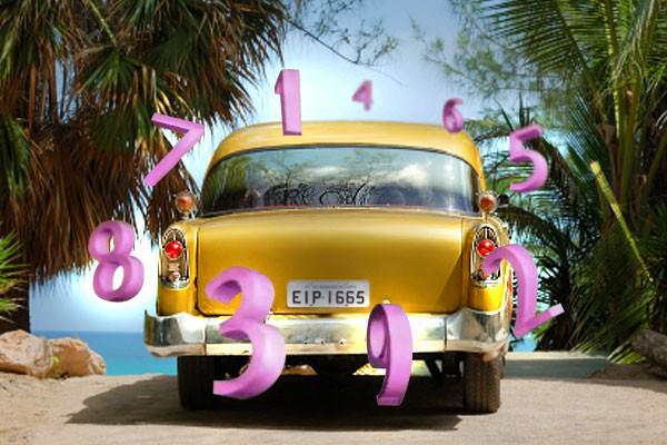 Numerologia da placa do carro