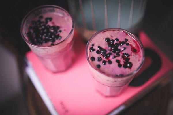 Receita de milk shake púrpura