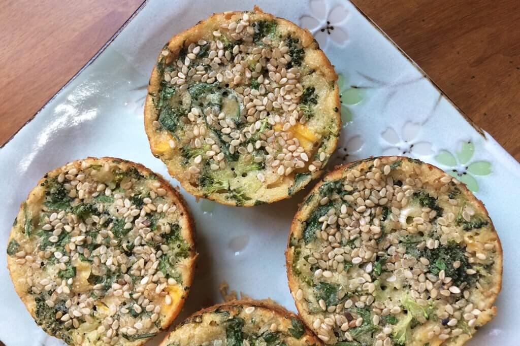 Mini quiche de brócolis sem glúten e lactose