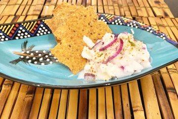 Receita de ceviche vegano com coco verde