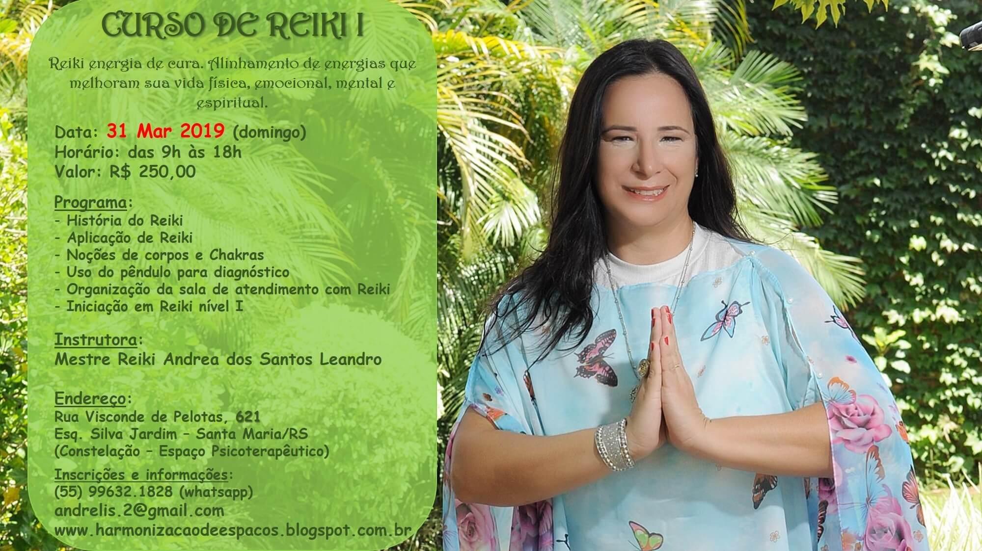 Curso de Reiki I, com Andrea Leandro