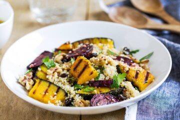 Receita de salada de quinoa e abóbora assada
