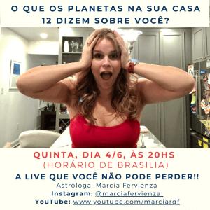 Márcia Fervienza live no instagram