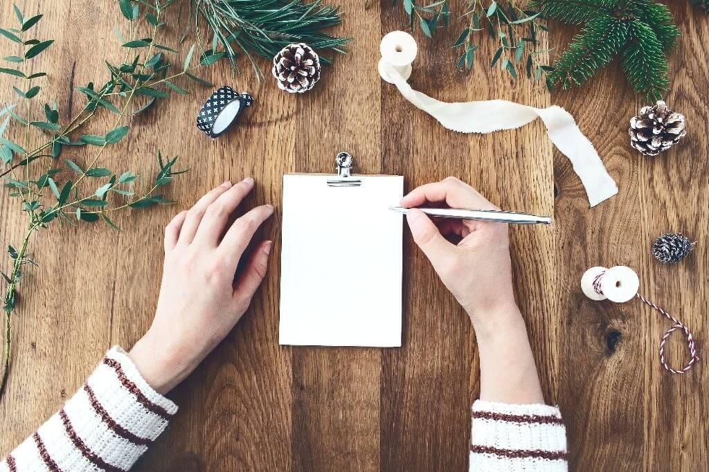 Como usar a escrita terapêutica no Natal